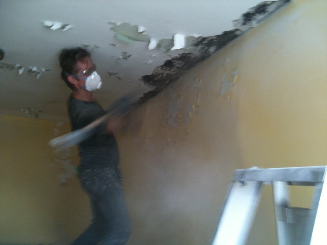 Demolition on roof