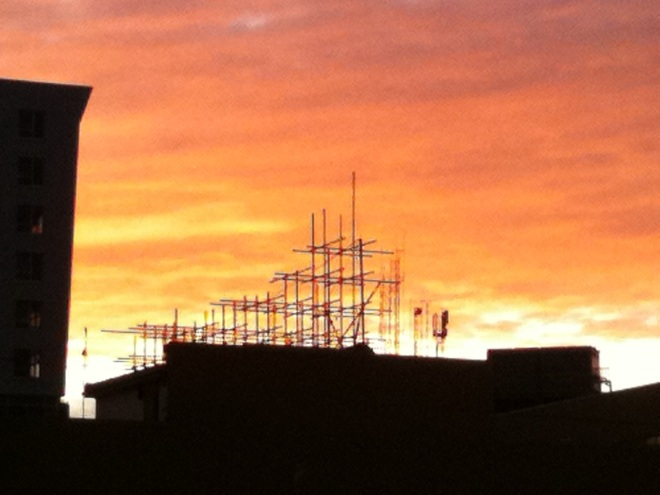 Spire Roof at Sunset