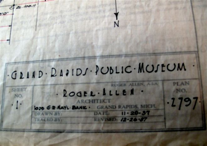 Grand Rapids Public Museum Architect Signature