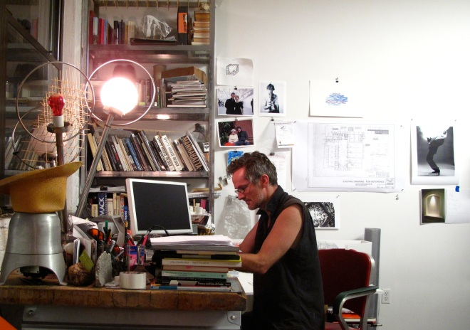 Alois Kronschlaeger at work in his studio