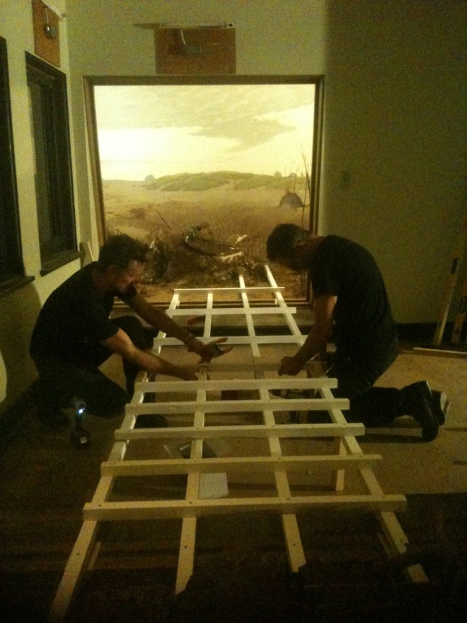 Alois Kronschlaeger and Paul Amenta constructing Habitat
