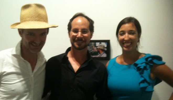 Joe Fig Cinematic Paintings Opening with Alois Kronschlaeger and Maria Kucinski