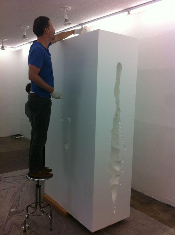 Aldo Chaparro installing