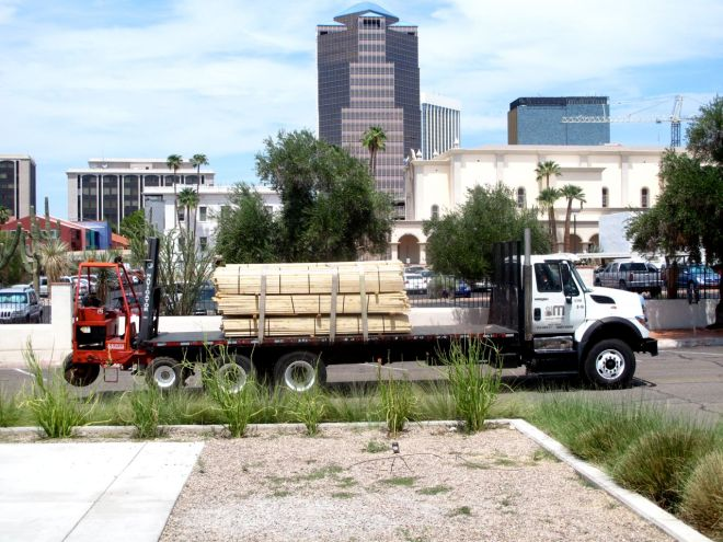Wood delivered to Moca Tucson